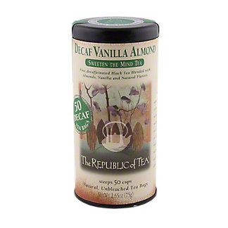 The Republic of Tea Decaf Vanilla Almond Black Tea Bags, 50 ct