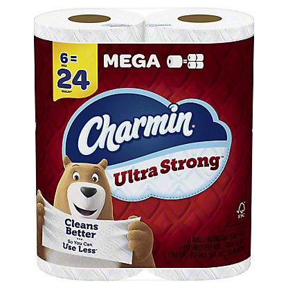 Charmin Ultra Strong Mega Roll Bath Tissue, 6 ct