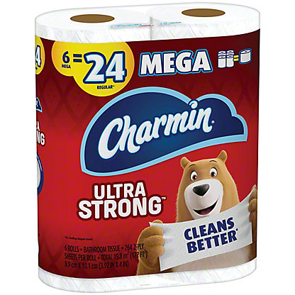 Charmin Ultra Strong Mega Roll Bath Tissue, 6 ct