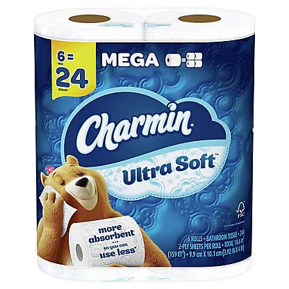 Charmin Ultra Soft Mega Roll Bath Tissue, 6 ct