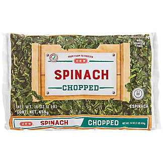 H-E-B H-E-B Chopped Spinach,16.00 oz