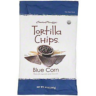 Central Market Organics Blue Corn Tortilla Chips With Sea Salt, 14 oz