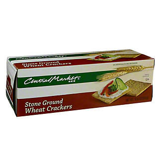 Central Market Stone Ground Wheat Crackers,10.6 OZ