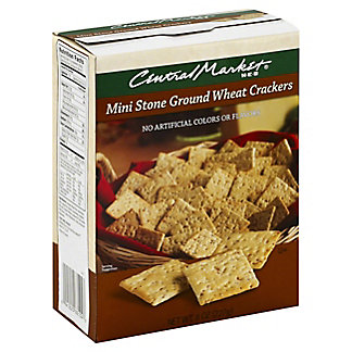 Central Market Mini Stone Ground Wheat Crackers,8.00 oz