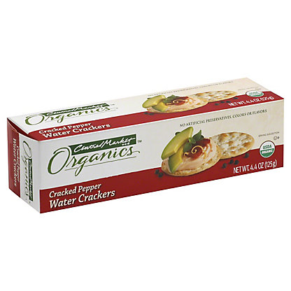 Central Market Organics Cracked Pepper Water Crackers,4.4 OZ