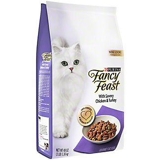 Purina Fancy Feast Savory Chicken and Turkey Gourmet Cat Food, 3 lb