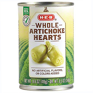 H-E-B Whole Artichoke Hearts,14.6 OZ