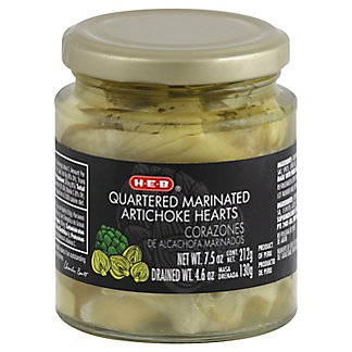 H-E-B Quartered Marinated Artichoke Hearts,7.5 OZ