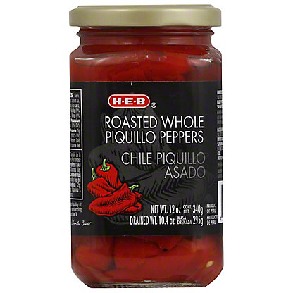 H-E-B Roasted Whole Piquillo Peppers,12 OZ