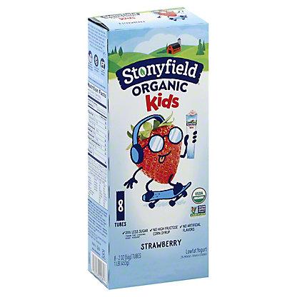 Stonyfield Organic YoKids Squeezers Lowfat Strawberry Yogurt,8 CT
