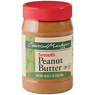 Central Market Smooth Peanut Butter, 18 oz
