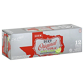 H-E-B Diet Original Cola with Lime 12 oz Cans, 12 pk