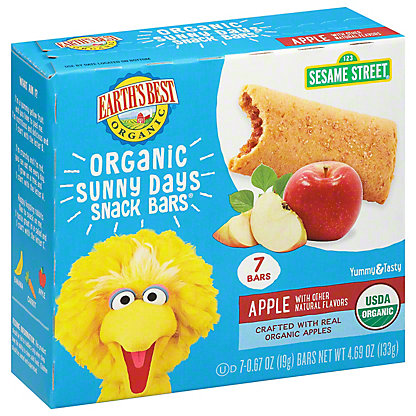 Earth's Best Organic Sunny Days Apple Snack Bars,5.3 OZ