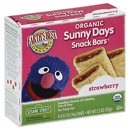 Earth's Best Organic Sunny Days Strawberry Snack Bars,5.3 OZ