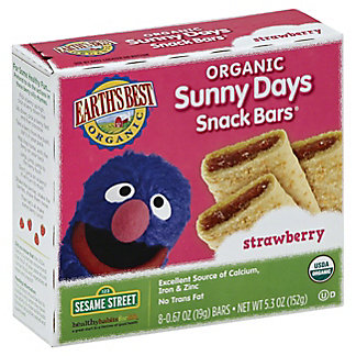 Earth's Best Organic Sunny Days Strawberry Snack Bars,5.3 OZ