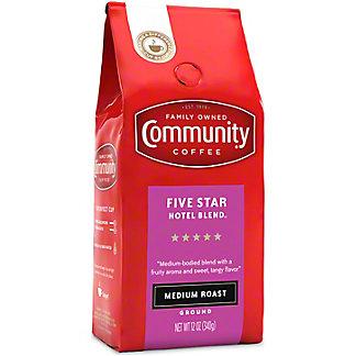 Community Coffee Hotel Blend Medium Roast Ground Coffee, 12 oz