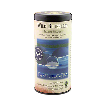 The Republic of Tea Wild Blueberry Black Tea Bags, 50 ct