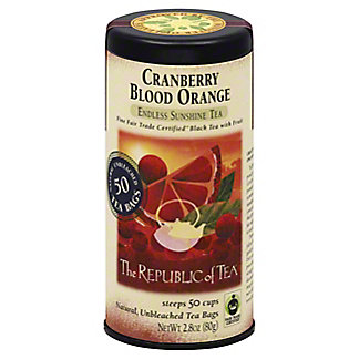 The Republic of Tea Cranberry Blood Orange Black Tea Bags, 50 ct