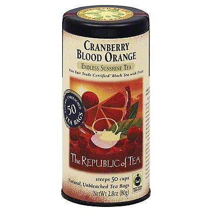 The Republic of Tea Cranberry Blood Orange Black Tea Bags, 50 ct