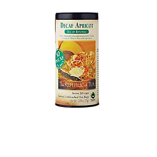 The Republic of Tea Decaf Apricot Black Tea Bags, 50 CT