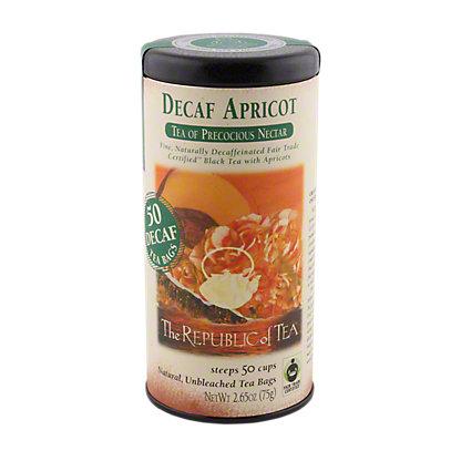The Republic of Tea Decaf Apricot Black Tea Bags, 50 CT