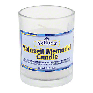 Promised Land Promised Land Yahrzeit Memorial Lamp Paraffin Wax Candle,1 CT
