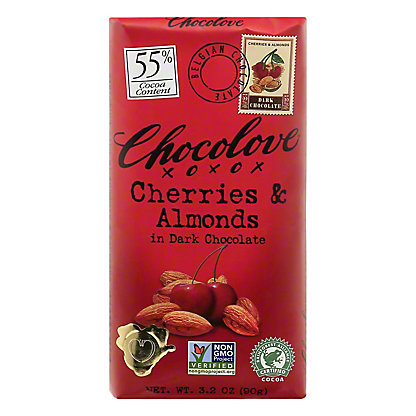 Chocolove Cherry & Almond in Dark Chocolate,3.2 OZ