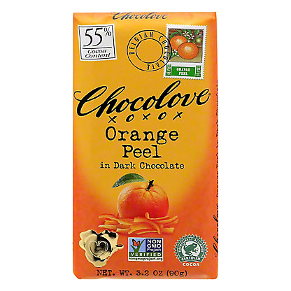 Chocolove Orange Peel in Dark Chocolate,3.2 OZ