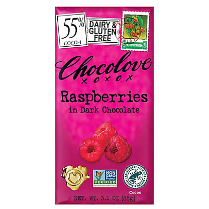 Chocolove Raspberries in Dark Chocolate,3.2 OZ