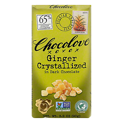 Chocolove Ginger Crystallized in Dark Chocolate,3.2 OZ