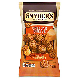 Snyder's of Hanover Cheddar Cheese Pretzel Sandwiches,8 OZ
