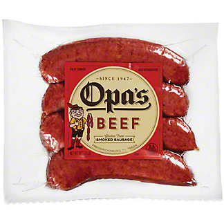 Opa's Beef Smoked Sausage Small Pack,LB