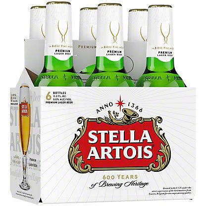 Stella Artois Premium Lager 11.2 oz Bottles, 6 pk