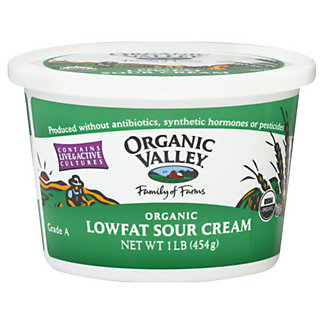 Organic Valley Low Fat Organic Sour Cream,16 OZ