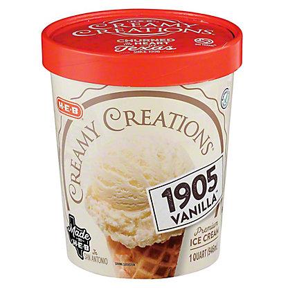 H-E-B Creamy Creations 1905 Vanilla Ice Cream,1 qt