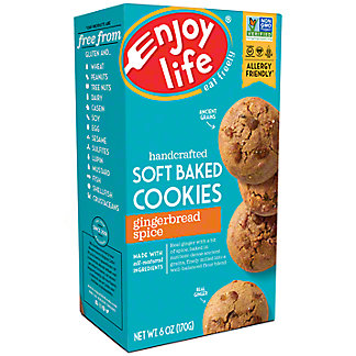 Enjoy Life Gluten Free Allergy Friendly Soft Baked Gingerbread Spice Cookies, 6 oz