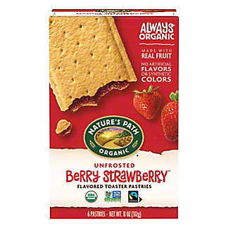 Nature's Path Organic Unfrosted Strawberry Toaster Pastry,11 OZ