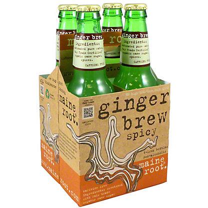 Maine Root Organic Ginger Brew 4 PK Bottles,12 OZ
