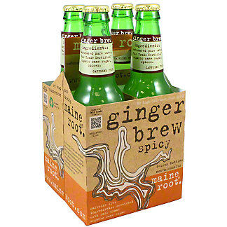 Maine Root Organic Ginger Brew 4 PK Bottles,12 OZ