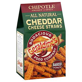 Geraldines All Natural Cheddar Cheese Straws Chipotle, 4.50 oz