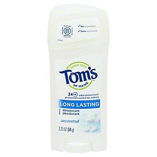 Tom's of Maine Long Lasting Unscented Deodorant,2.25 OZ