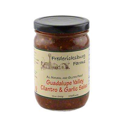 Fredericksburg Farms Guadalupe Valley Cilantro & Garlic Salsa,12 OZ