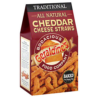 Geraldines All Natural Cheddar Cheese Straws Traditional, 4.5 oz