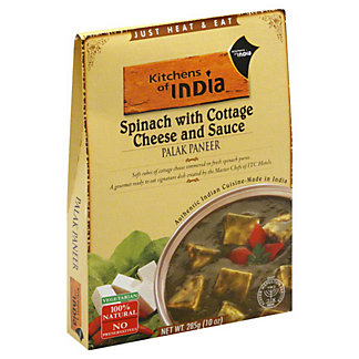 Kitchens of India Palak Paneer Spinach with Cottage Cheese and Sauce, 10 oz