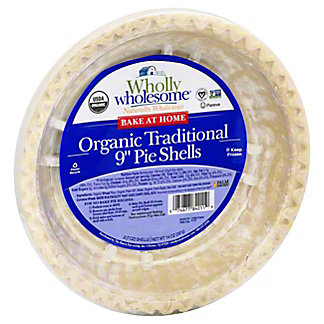 "Wholly Wholesome Bake At Home Healthy 9"" Pie Shells,2 CT"