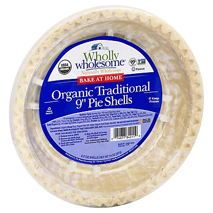 """Wholly Wholesome Bake At Home Healthy 9"""" Pie Shells,2 CT"""