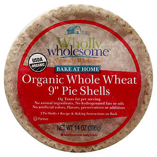 "Wholly Wholesome Bake At Home Healthy 9"" Pie Shells Whole Wheat,2 CT"