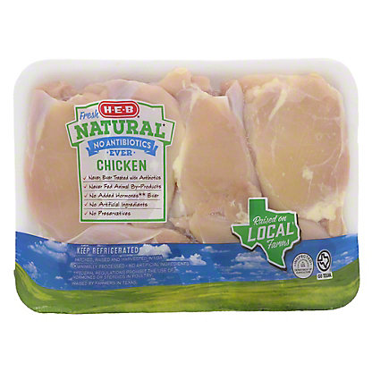 H-E-B Natural Boneless Skinless Chicken Thighs