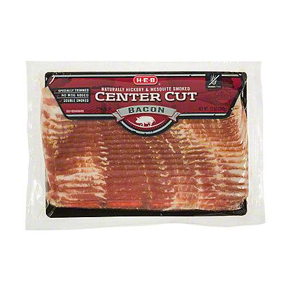H-E-B Premium Center Cut Smoked Bacon, 12 oz