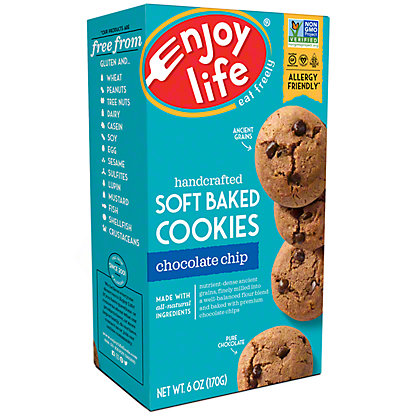 Enjoy Life Gluten Free Allergy Friendly Chocolate Chip Soft Baked Cookies, 6 oz